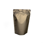 2 oz Bronze Matte Stand-up Pouch, Heat-sealable